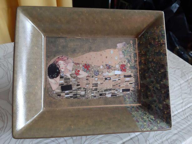 """""""Pocałunek"""" Gustava Klimta talerz ozdobny"""
