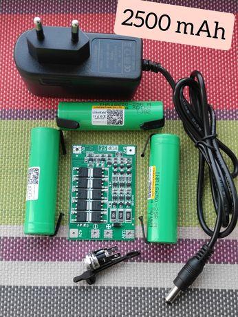 Комплект на Шуруповёрт 12.6V/перепаковка/литий/bms 3S 18650 Li-ion 2.5