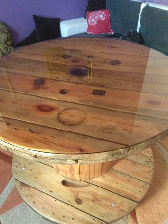 Stół szpula drewniany