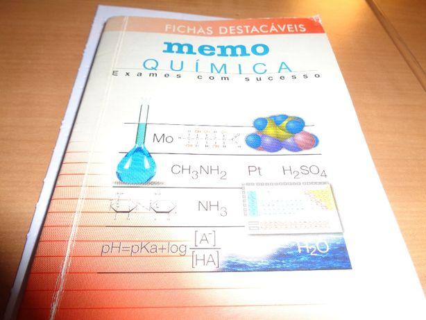 Mini Livro Fichas Destacáveis Memo Química 64 Páginas