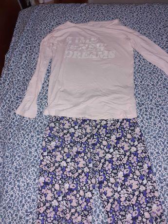 Pijama completo rosa e florido S. Portes incluídos!