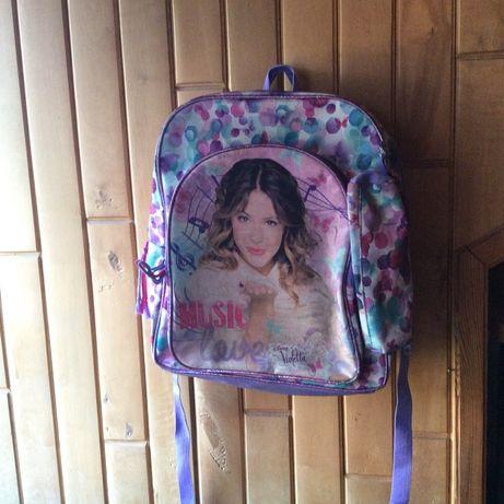 Plecak+piórnik violetta