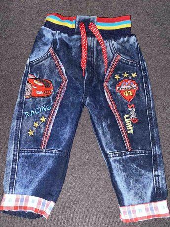 джинсы Турция штаны, яркие брюки Тачки.68-74