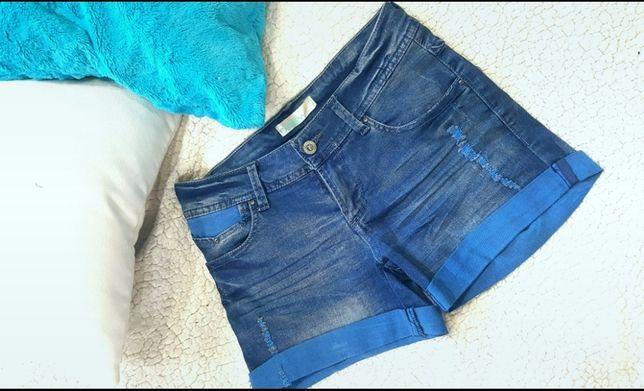 Spodenki granatowe niebieskie jeans