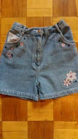 Джинсовые шорты с вышивкой Image для девочки 5-6 лет