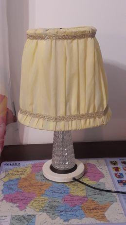 Stara piękna lampa z prl na komodę lub szafkę z PRL.z szklaną nóżką 48