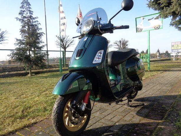 Vespa Gts Super Racing Sixties 125 Zielona butelka gold felgi limited