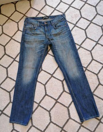 Spodnie jeans C&A ciemne proste nogawki straight leg 34/32 XL