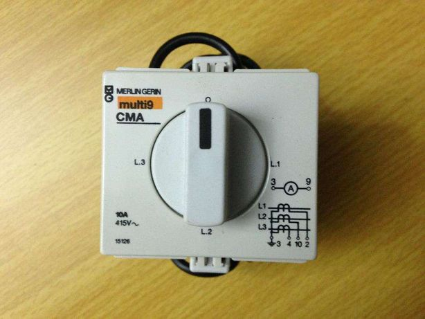 Comutador Amperimetro Modular 10 Amperes Merlin Gerin