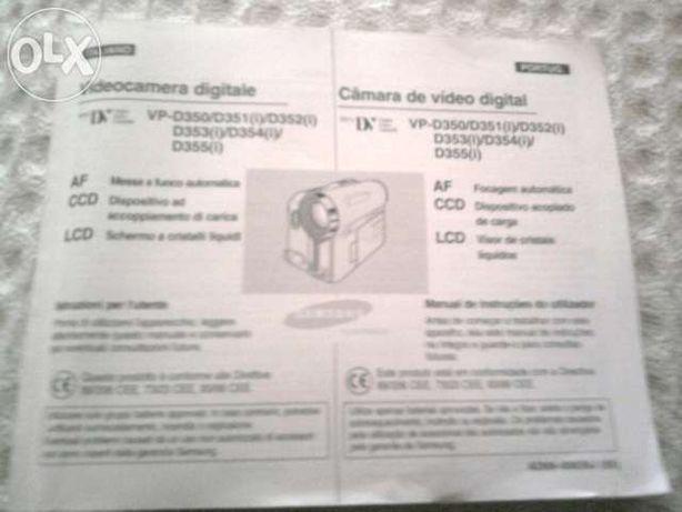 Manual Camera Video Digital Samsung VP D350