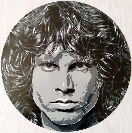 Jim Morrisson pintura original em disco de vinil