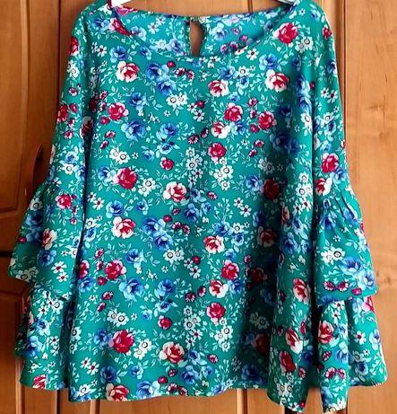 Bluzka Top Secret w kwiatuszki hiszpanka roz 42