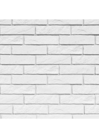 Biała cegiełka dekoracyjna z fugą Panama