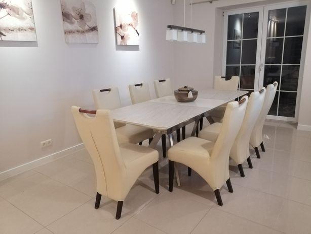 Krzesła komplet 8 szt ekoskóra