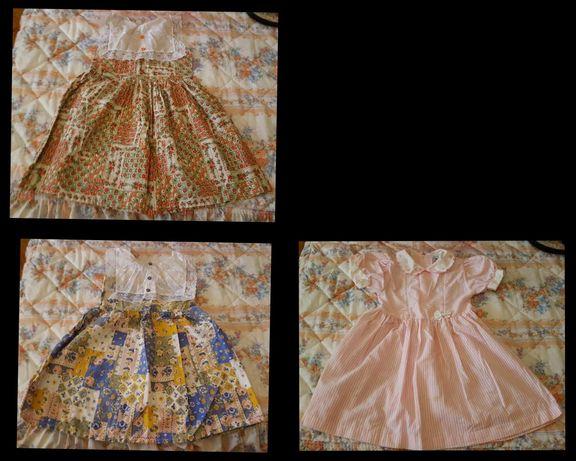 vestido para menina de 4 anos - cerimonia - azul / rosa / laranja
