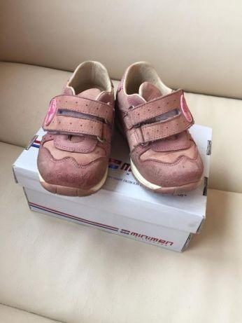 Кожаные ортопедические ботинки туфли кроссовки для девочки 21 р Турция