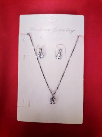 Komplet srebrnej biżuterii 925