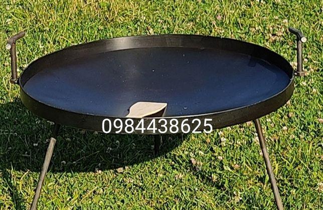 Сковорода з диска борони 50 см. Сковорідка із диска борони на пікнік