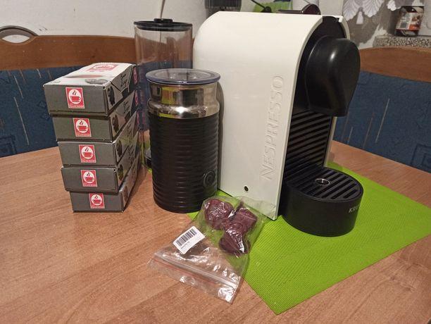 Ekspres Krups Nespresso ze spieniaczem do mleka + gratisy