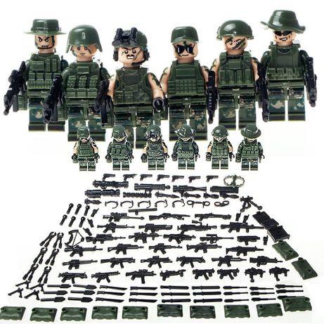 #105 Фигурки swat спецназ военные солдаты Лего lego BrickArms бандиты