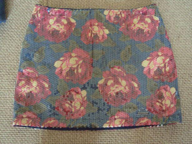 spódnica mini w kwiaty abercrombie&fitch xs/34