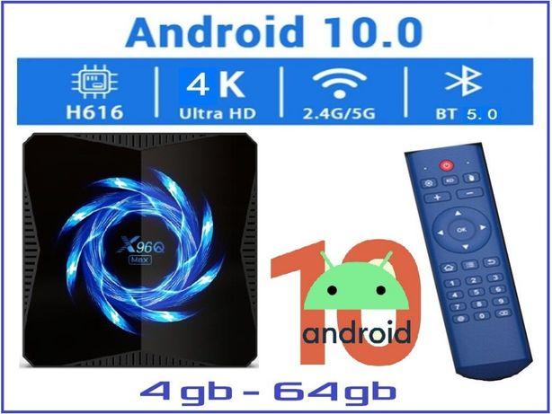 X96Q MAX 4гб 64гб Андроид 10 Смарт ТВ приставка с настройками 2021 год