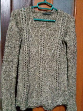 Теплый женский пушистый свитер-травка-48-50 размер