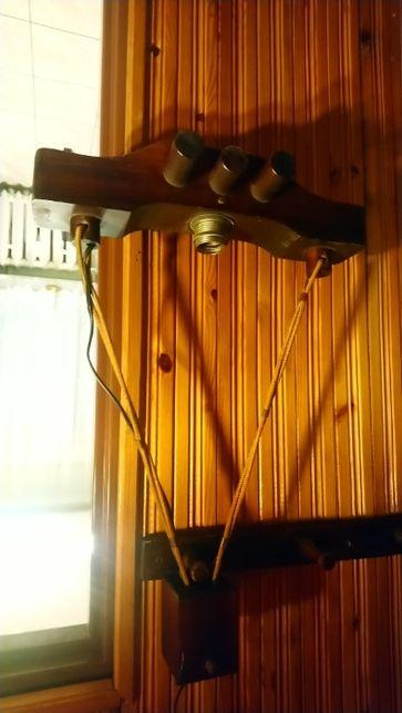 Lampa drewniana korytarz gwint E27