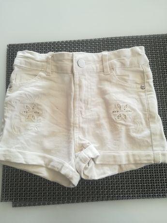 Białe krótkie spodenki jeansowe 110 Cool Club