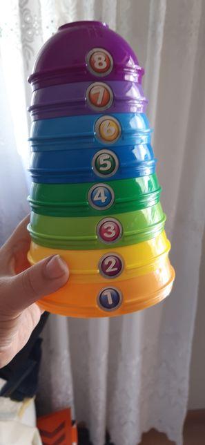 Torre números e cores
