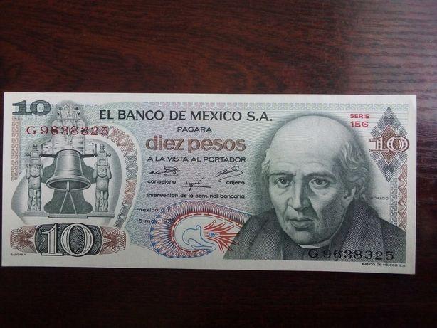 Banknot 10 pesos Meksyk