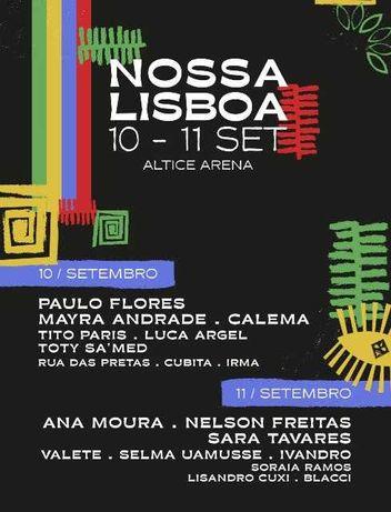 Passe 2 dias Plateia A Festival Nossa Lisboa