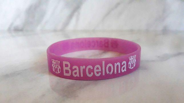 Fioletowa gumowa bransoletka FC Barcelona