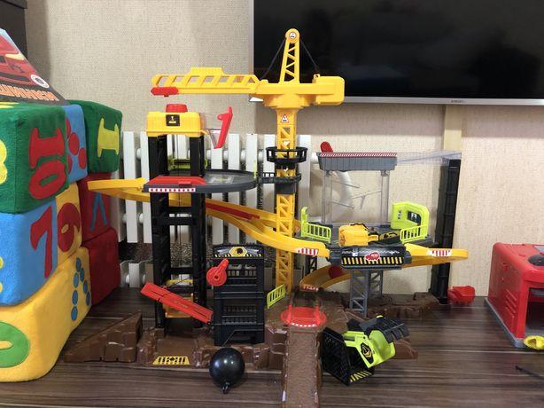Стройка dikey Игровой набор Dickie Toys Строительство с техникой и акс