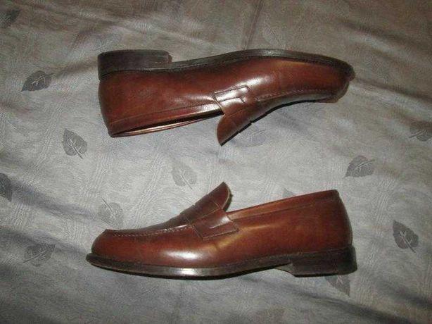 Кожаные туфли лоферы Hand Made goodyear welted р. 43 - 43.5