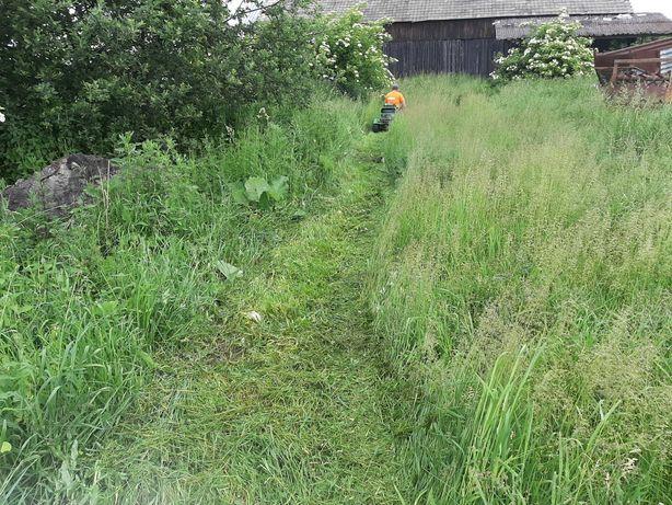 Koszenie trawy, karczowanie nieuzytków