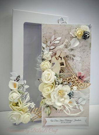 Kartka ręcznie robiona na ślub, rocznicę ślubu