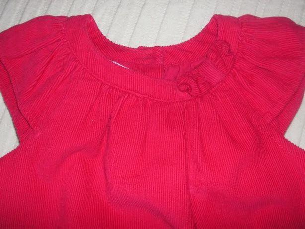 Vestido Bébé DPAM Veludo 9M (Novo)