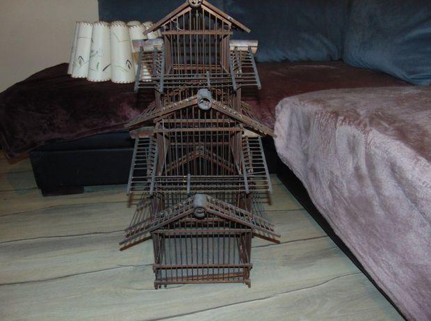 Przedwojenna duża klatka dla ptaszka,kanarka