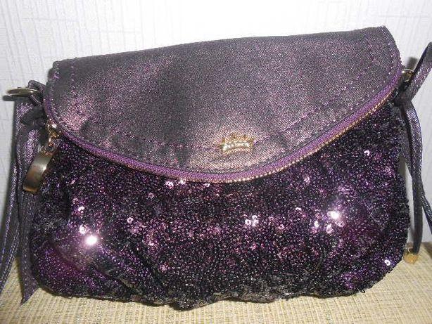 Фирменная сумка кросс-боди JUICY COUTURE из США цвета баклажан новая