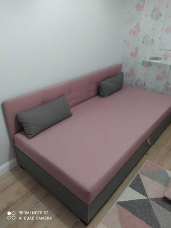 Łóżko jednoosobowe, tapczan Nowy 90 x 195, dwukolorowe.