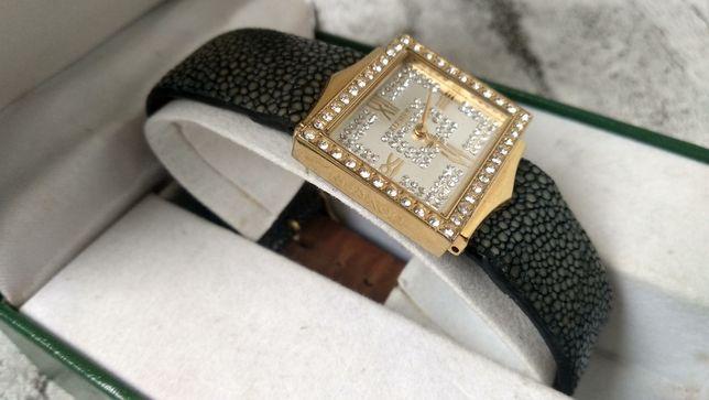 Женские часы KLEYNOD, кварц, позолота, камни Swarovski