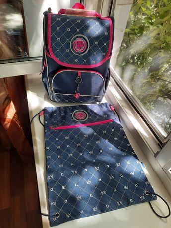 Школьный рюкзак , ранец, портфель + сумка для обуви KITE , как новые !