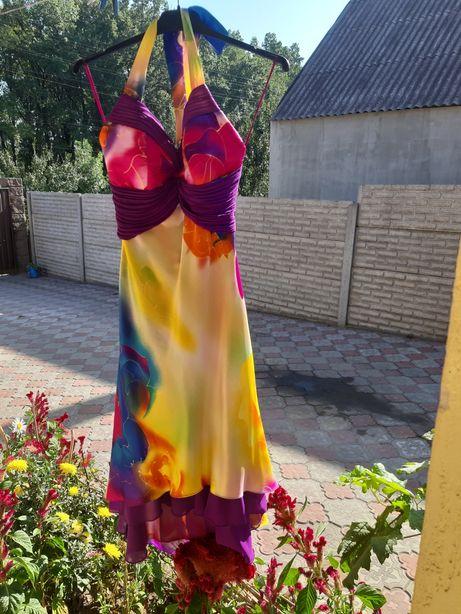 Платье сарафан выпускной вечернее р42-44 нарядное