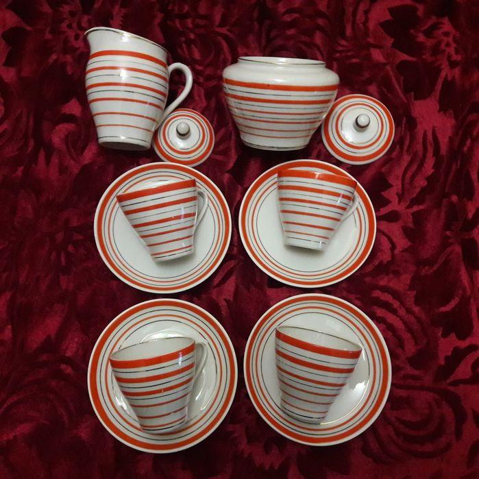 Сервиз чайный на 4 персоны фарфор Барановка 1960-х СССР Каменское - изображение 1