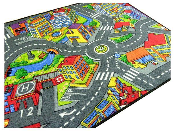 Dywan auta drogi miasto 2x2,5m dla dzieci