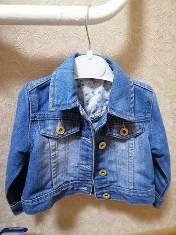 Джинсовая куртка 9-12 месяцев