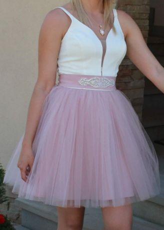 Sukienka tutu xs pudrowy roz