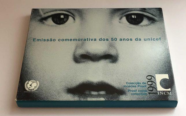 série anual PROOF 1999 - carteira oficial da INCM