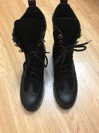 Ботинки, новые, кожа + замш